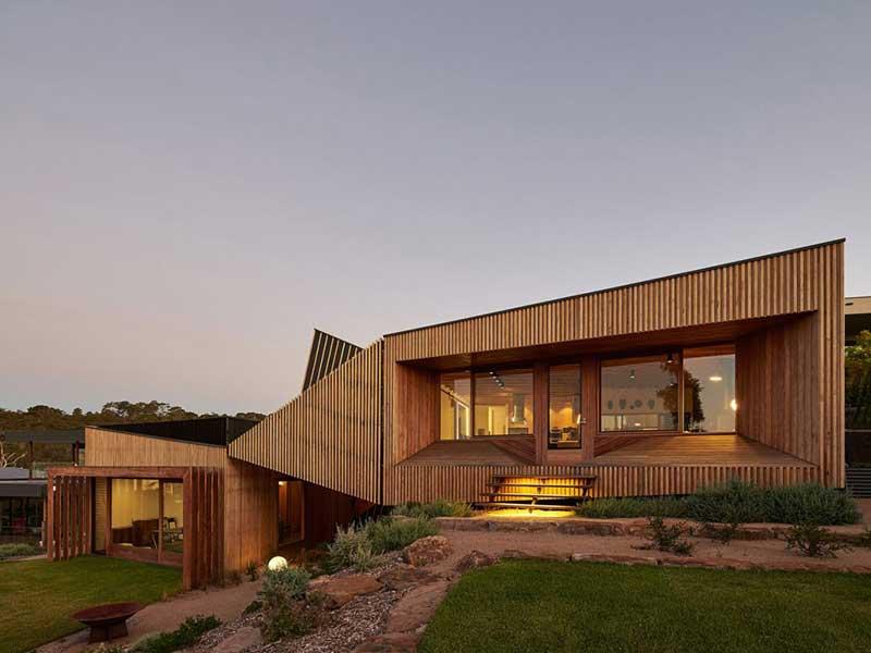 طراحی خانه های چوبی معاصر در استرالیا