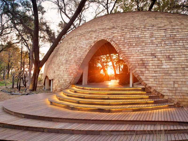 اقامتگاه سافاری خورشیدی واقع در بوتسوانا، آفریقا