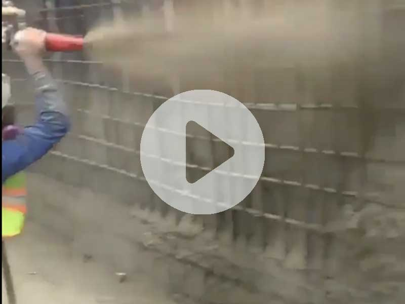 How to spray concrete