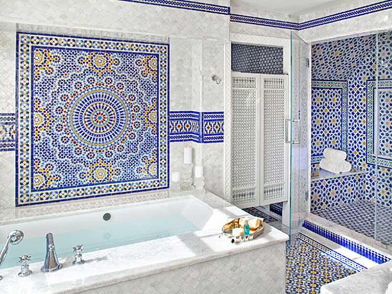 ایده های جالب برای کاشی حمام